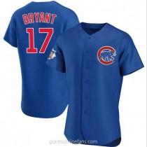 Mens Kris Bryant Chicago Cubs #17 Authentic Royal Alternate A592 Jerseys