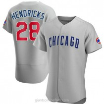 Mens Kyle Hendricks Chicago Cubs #28 Authentic Gray Road A592 Jerseys