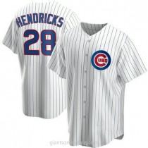 Mens Kyle Hendricks Chicago Cubs #28 Replica White Home A592 Jerseys