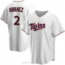 Mens Luis Arraez Minnesota Twins #2 Replica White Home A592 Jerseys