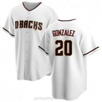 Mens Luis Gonzalez Arizona Diamondbacks Replica White Home A592 Jersey