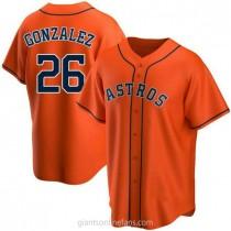 Mens Luis Gonzalez Houston Astros #26 Replica Orange Alternate A592 Jersey