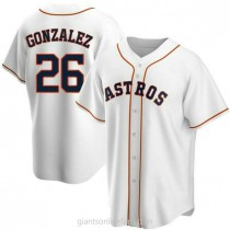 Mens Luis Gonzalez Houston Astros #26 Replica White Home A592 Jerseys