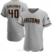 Mens Madison Bumgarner Arizona Diamondbacks #40 Authentic Gray Road A592 Jersey