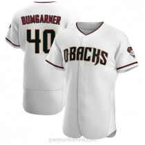 Mens Madison Bumgarner Arizona Diamondbacks #40 Authentic White Crimson Home A592 Jerseys