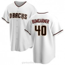 Mens Madison Bumgarner Arizona Diamondbacks #40 Replica White Home A592 Jerseys