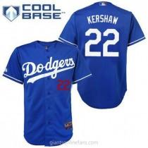 Mens Majestic Clayton Kershaw Los Angeles Dodgers #22 Replica Royal Blue Cool Base A592 Jerseys