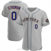 Mens Marcus Stroman New York Mets 0 Authentic Gray Road A592 Jersey