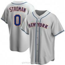 Mens Marcus Stroman New York Mets 0 Replica Gray Road A592 Jersey