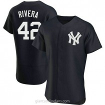 Mens Mariano Rivera New York Yankees #42 Authentic Navy Alternate A592 Jerseys