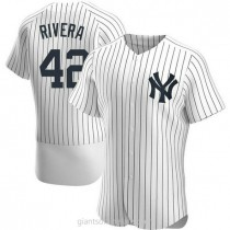 Mens Mariano Rivera New York Yankees #42 Authentic White Home A592 Jersey