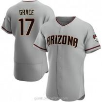 Mens Mark Grace Arizona Diamondbacks #17 Authentic Gray Road A592 Jersey