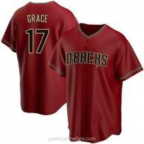 Mens Mark Grace Arizona Diamondbacks #17 Replica Red Alternate A592 Jersey