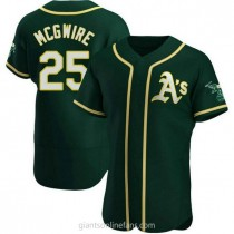 Mens Mark Mcgwire Oakland Athletics #25 Authentic Green Alternate A592 Jerseys
