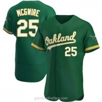 Mens Mark Mcgwire Oakland Athletics #25 Authentic Green Kelly Alternate A592 Jersey