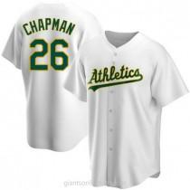 Mens Matt Chapman Oakland Athletics #26 Replica White Home A592 Jerseys