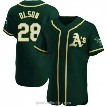 Mens Matt Olson Oakland Athletics Authentic Green Alternate A592 Jersey