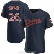 Mens Max Kepler Minnesota Twins #26 Authentic Navy Alternate 60th Season Team A592 Jerseys