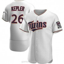 Mens Max Kepler Minnesota Twins #26 Authentic White Home A592 Jerseys