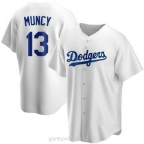 Mens Max Muncy Los Angeles Dodgers #13 Replica White Home A592 Jerseys