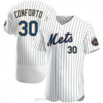 Mens Michael Conforto New York Mets #30 Authentic White Home A592 Jerseys