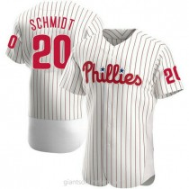Mens Mike Schmidt Philadelphia Phillies Authentic White Home A592 Jersey