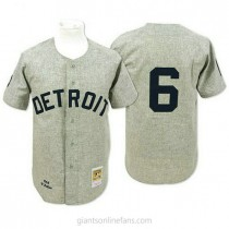 Mens Mitchell And Ness Al Kaline Detroit Tigers #6 Authentic Grey 1968 Throwback A592 Jerseys