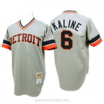 Mens Mitchell And Ness Al Kaline Detroit Tigers #6 Authentic Grey 1984 Throwback A592 Jersey