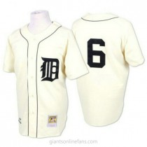 Mens Mitchell And Ness Al Kaline Detroit Tigers #6 Authentic White Throwback A592 Jersey