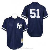 Mens Mitchell And Ness Bernie Williams Nw York Yankees #51 Replica Blue 1995 Throwback A592 Jersey