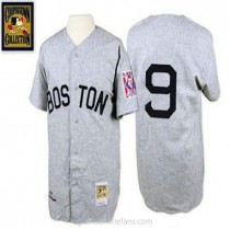 Mens Mitchell And Ness Boston Red Sox #9 Authentic Grey 1939 Throwback A592 Jersey