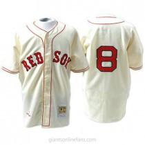 Mens Mitchell And Ness Carl Yastrzemski Boston Red Sox #8 Replica Cream 1967 Throwback A592 Jersey