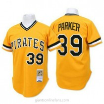 Mens Mitchell And Ness Dave Parker Pittsburgh Pirates #39 Authentic Gold Throwback A592 Jersey