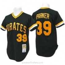 Mens Mitchell And Ness Dave Parker Pittsburgh Pirates #39 Replica Black Throwback A592 Jerseys