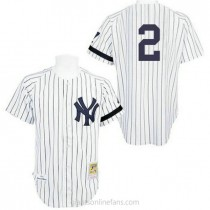 Mens Mitchell And Ness Derek Jeter New York Yankees #2 Replica White Practice Throwback A592 Jersey