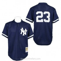 Mens Mitchell And Ness Don Mattingly New York Yankees #23 Authentic Blue 1995 Throwback A592 Jersey