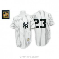 Mens Mitchell And Ness Don Mattingly New York Yankees Authentic White Throwback A592 Jersey