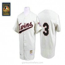 Mens Mitchell And Ness Harmon Killebrew Minnesota Twins #3 Authentic Blue White Strip Throwback A592 Jersey