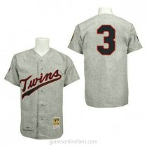 Mens Mitchell And Ness Harmon Killebrew Minnesota Twins #3 Authentic Grey 1969 Throwback A592 Jersey