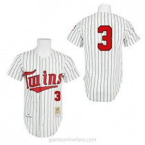 Mens Mitchell And Ness Harmon Killebrew Minnesota Twins #3 Authentic White 1991 Throwback A592 Jersey