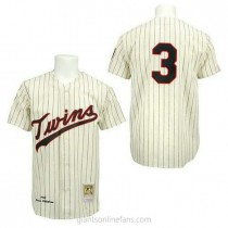 Mens Mitchell And Ness Harmon Killebrew Minnesota Twins Authentic Black Cream Strip Throwback A592 Jersey
