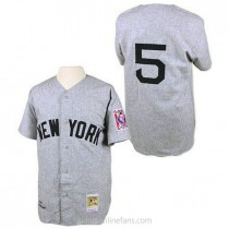 Mens Mitchell And Ness Joe Dimaggio New York Yankees #5 Authentic Grey 1939 Throwback A592 Jersey