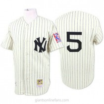 Mens Mitchell And Ness Joe Dimaggio New York Yankees #5 Authentic White 1939 Throwback A592 Jersey