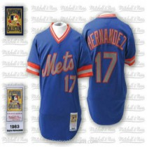 Mens Mitchell And Ness Keith Hernandez New York Mets #17 Authentic Blue Throwback A592 Jerseys