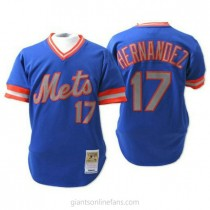 Mens Mitchell And Ness Keith Hernandez New York Mets #17 Replica Blue Throwback A592 Jersey