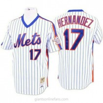 Mens Mitchell And Ness Keith Hernandez New York Mets #17 Replica Blue White Strip Throwback A592 Jersey