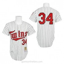 Mens Mitchell And Ness Kirby Puckett Minnesota Twins #34 Replica White 1991 Throwback A592 Jersey