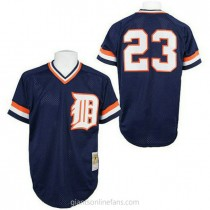 Mens Mitchell And Ness Kirk Gibson Detroit Tigers #23 Authentic Blue Throwback A592 Jersey