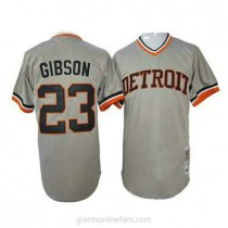 Mens Mitchell And Ness Kirk Gibson Detroit Tigers #23 Authentic Grey 1968 Throwback A592 Jersey