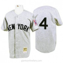 Mens Mitchell And Ness Lou Gehrig New York Yankees #4 Authentic Grey 1939 Throwback A592 Jersey